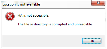 The VHD File or Directory is Corrupted and Unreachable