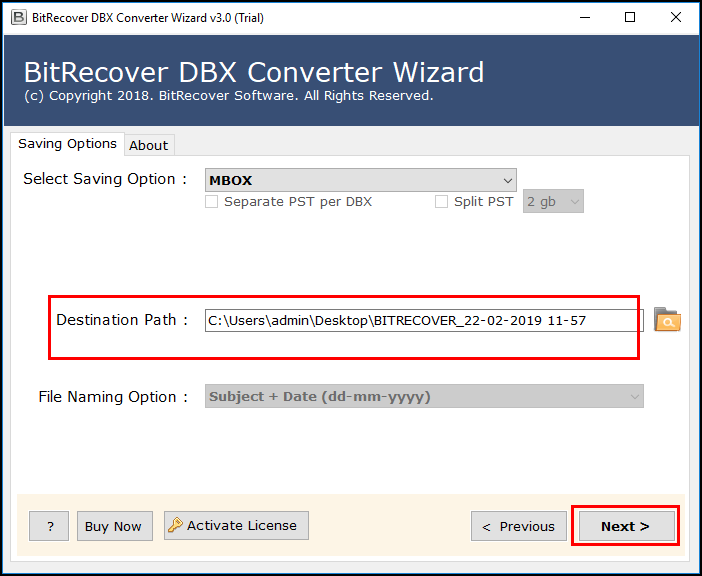 dbx to horde mail converter