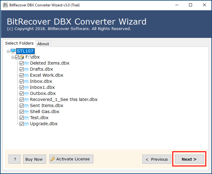 import dbx to windows 10 mail app