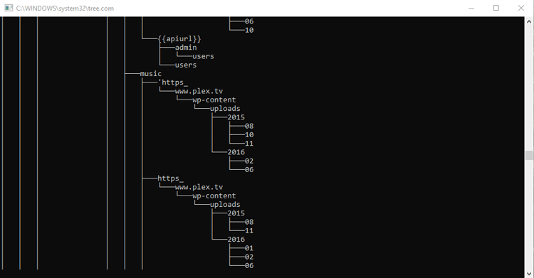 run tree command in windows 10