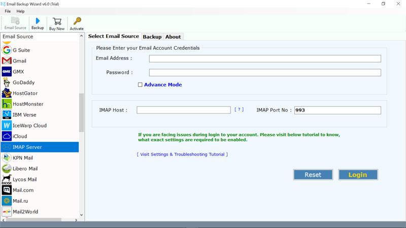 select-imap-server