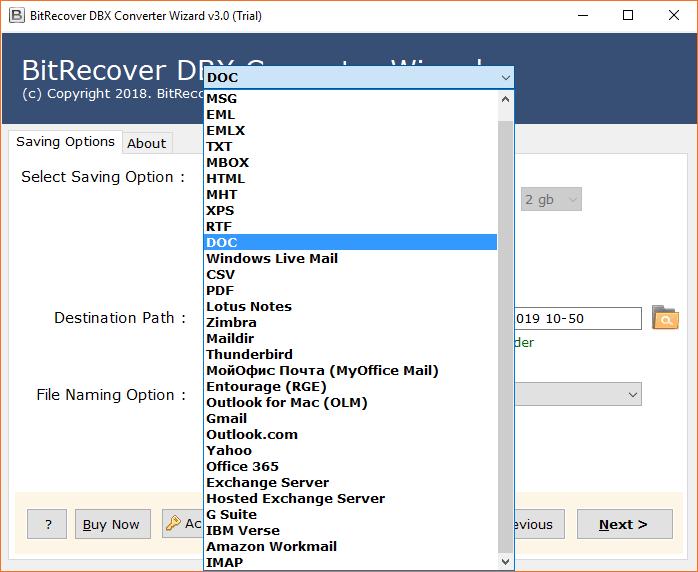 Select DOC