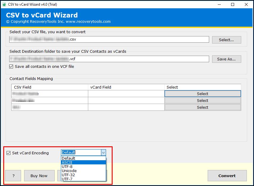 vCard Encoding