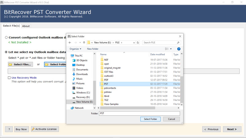 Extract Contacts from PST File without Outlook 2019, 2016, 2013, 2010