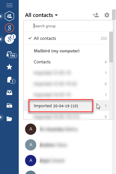 importing excel contacts to mailbird