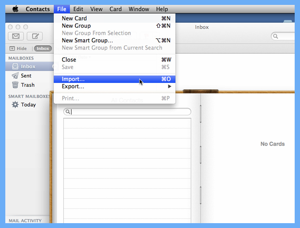 importing contacts from excel to mac address book