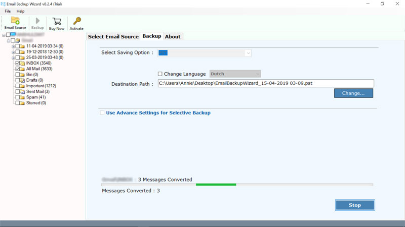 ibm-verse-to-outlook-backup-process