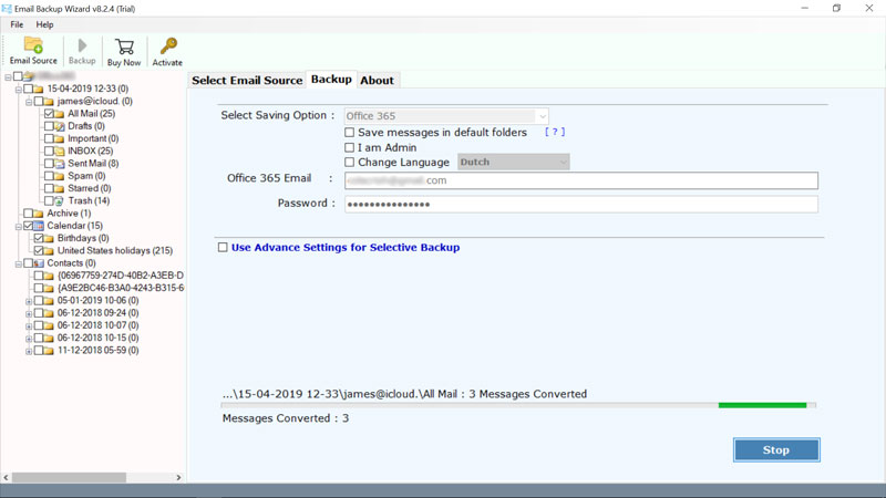 Migrate Emails from G Suite to Office 365 Account – Direct