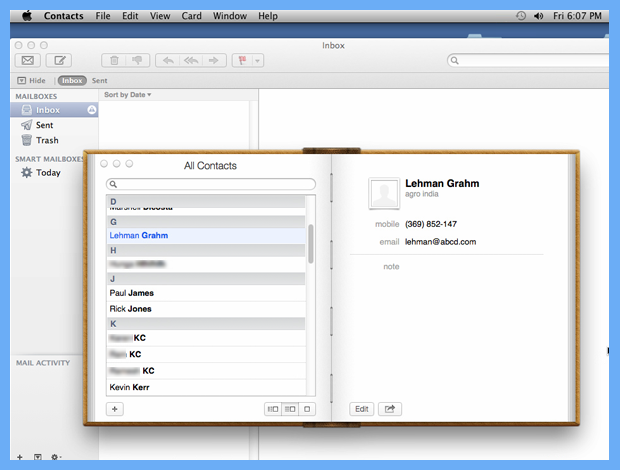 add contacts from excel to mac address book