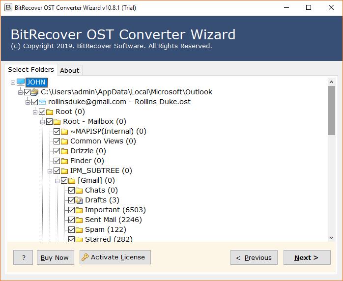 all OST folders