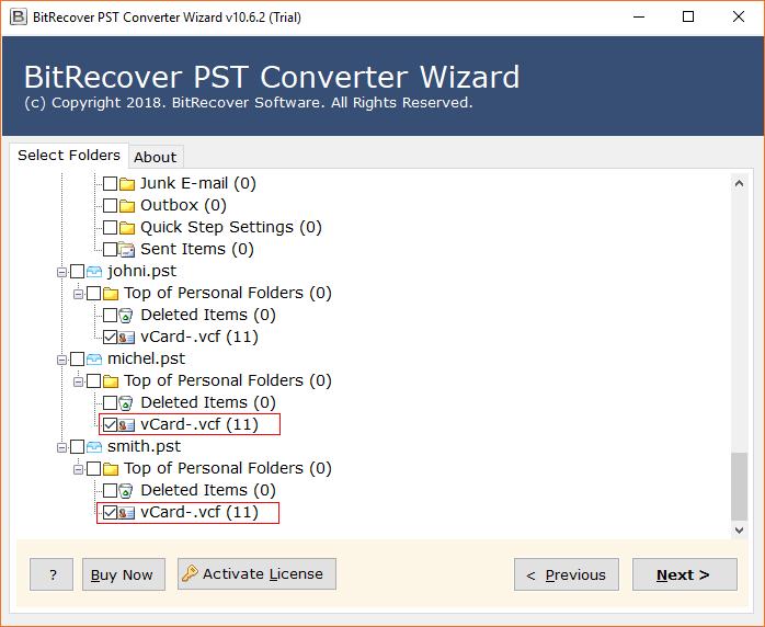 contact folders