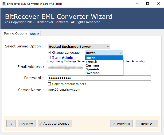 Convert Pegasus Mail to Hosted Exchange Server