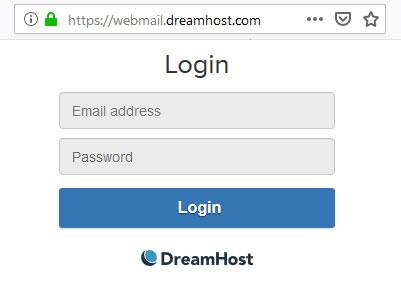 dreamhost webmail login