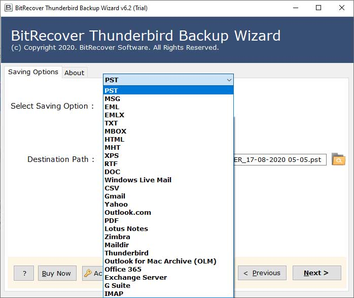 how to recover Thunderbird local folders