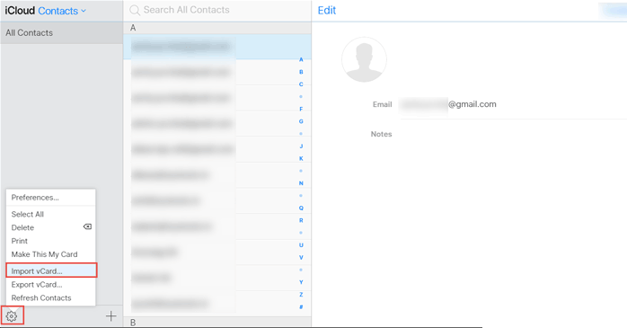 Transfer Outlook Contacts to iCloud from Archive PST Files