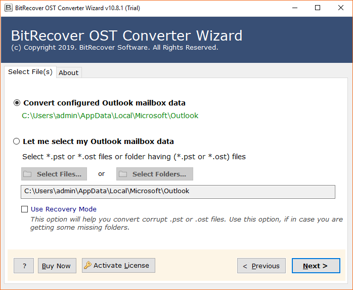 OST to Yahoo Import Software