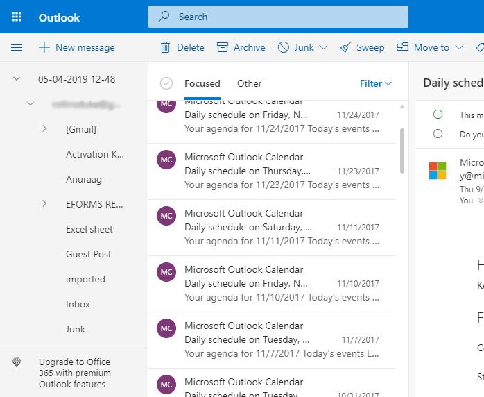 Run Outlook.com