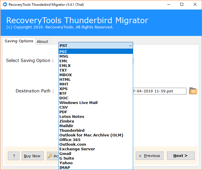 Convert Thunderbird Profile to Outlook, Office 365, MS