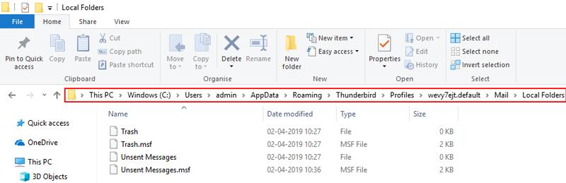 Get Thunderbird folders