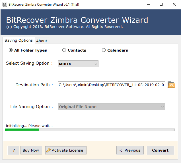 export zimbra emails files into mbox format