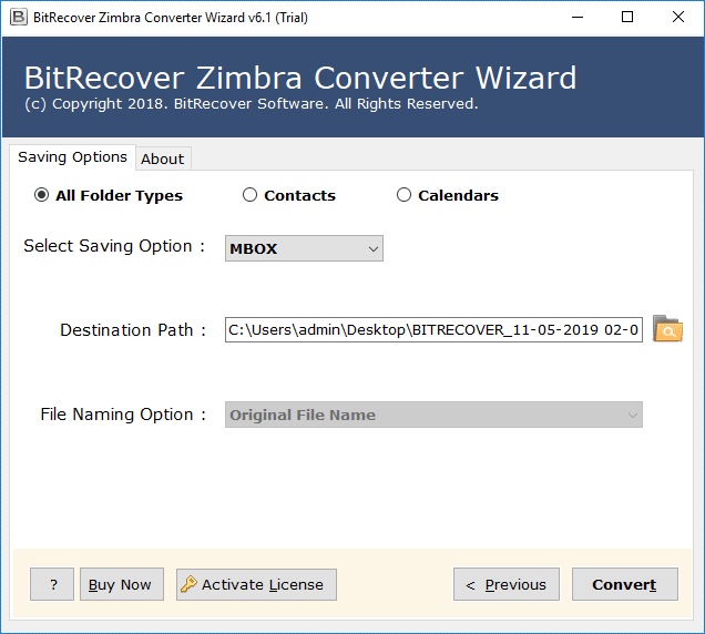 convert zimbra to mbox