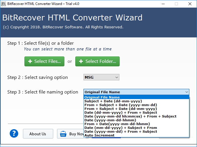 html to msg converter