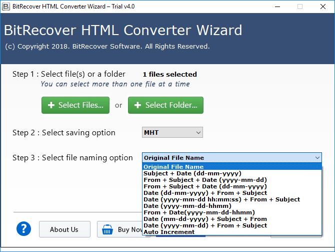 convert html to mht format