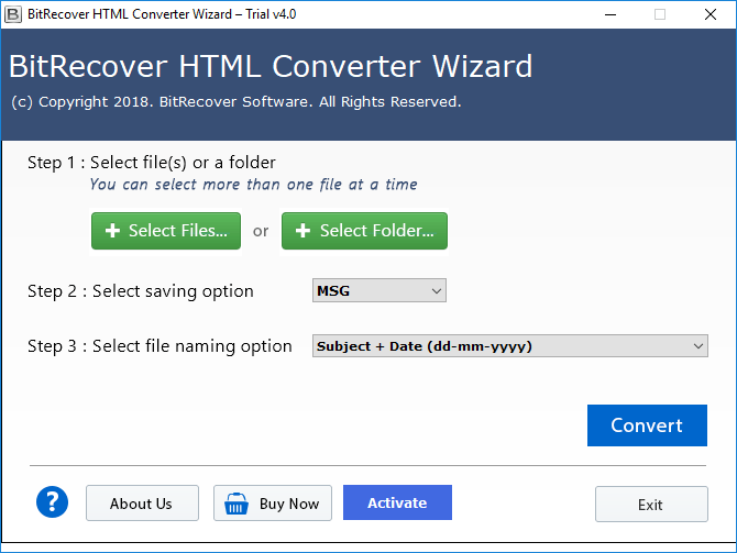 convert html emails to msg