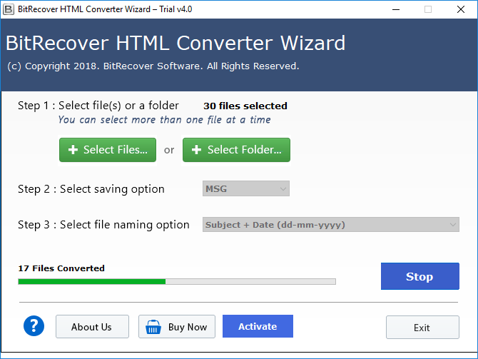 convert html files to msg