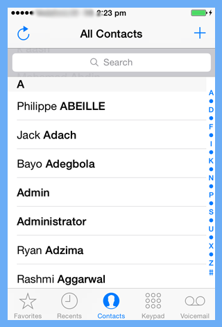 import excel contacts to iphone
