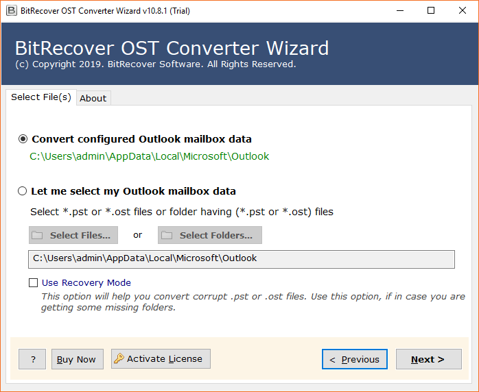 BitRecover OST to EMLX Wizard