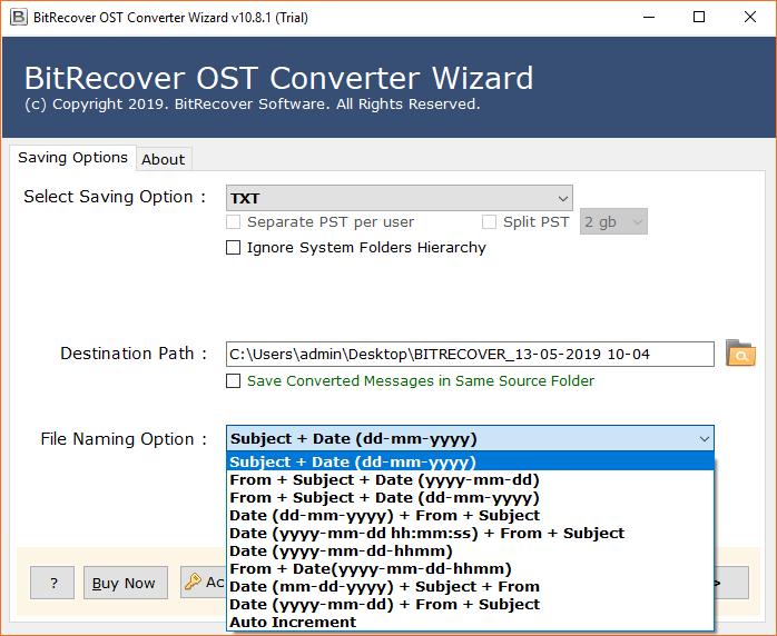 OST to TXT Converter to Convert OST to TEXT Notepad with
