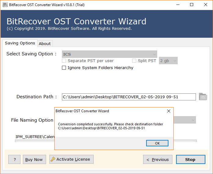 Outlook OST to iCal conversion