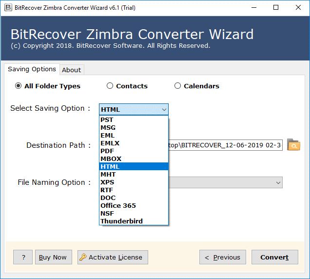 zimbra to html converter