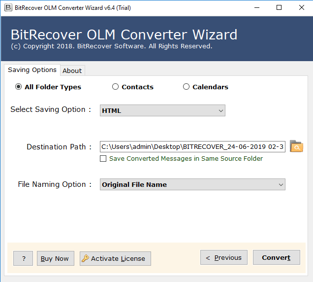 convert olm to html format