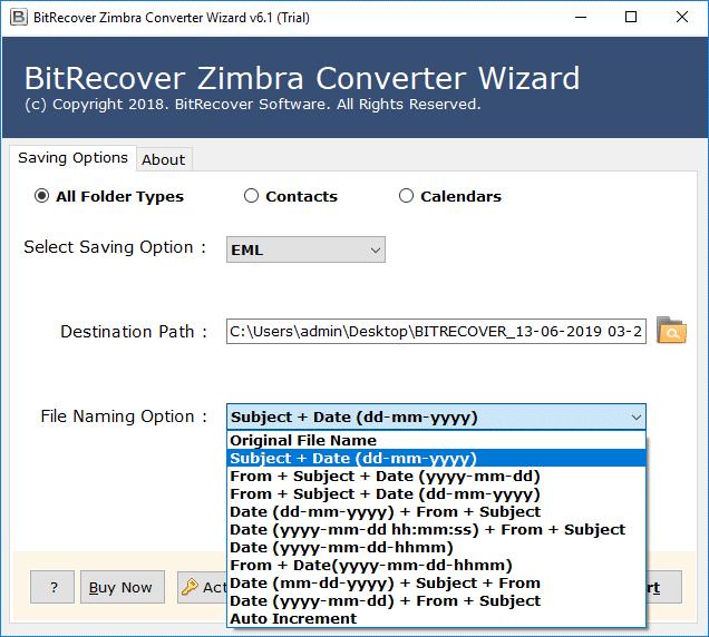 file naming option