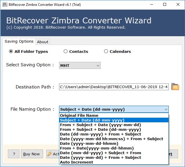 zimbra tgz files into mht