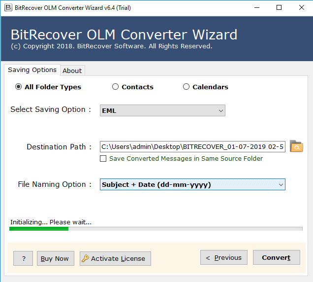 convert olm files to eml