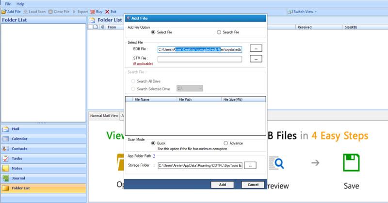 select-edb-files