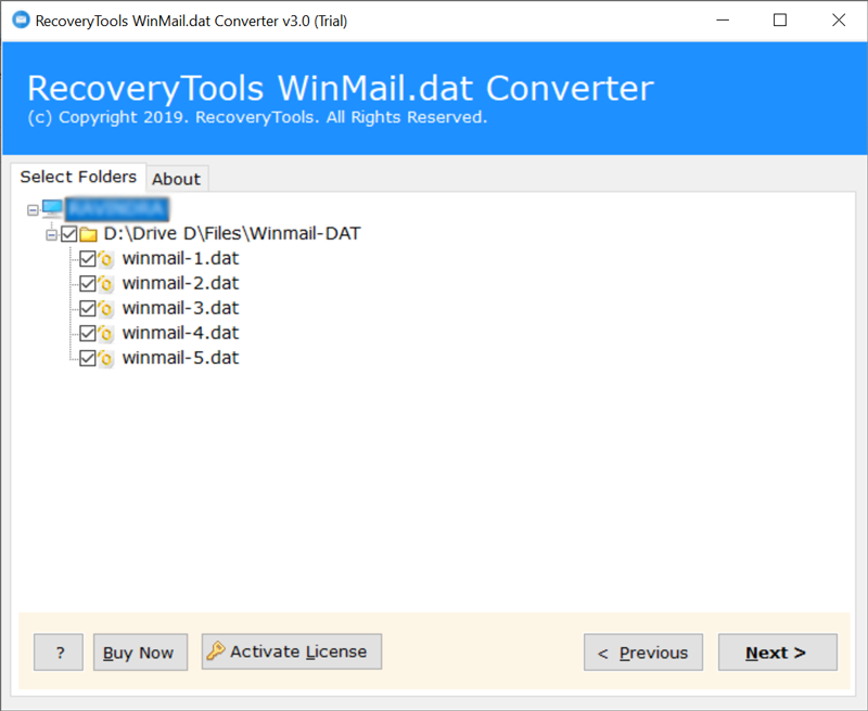 Check all or required winmail.dat TNEF files
