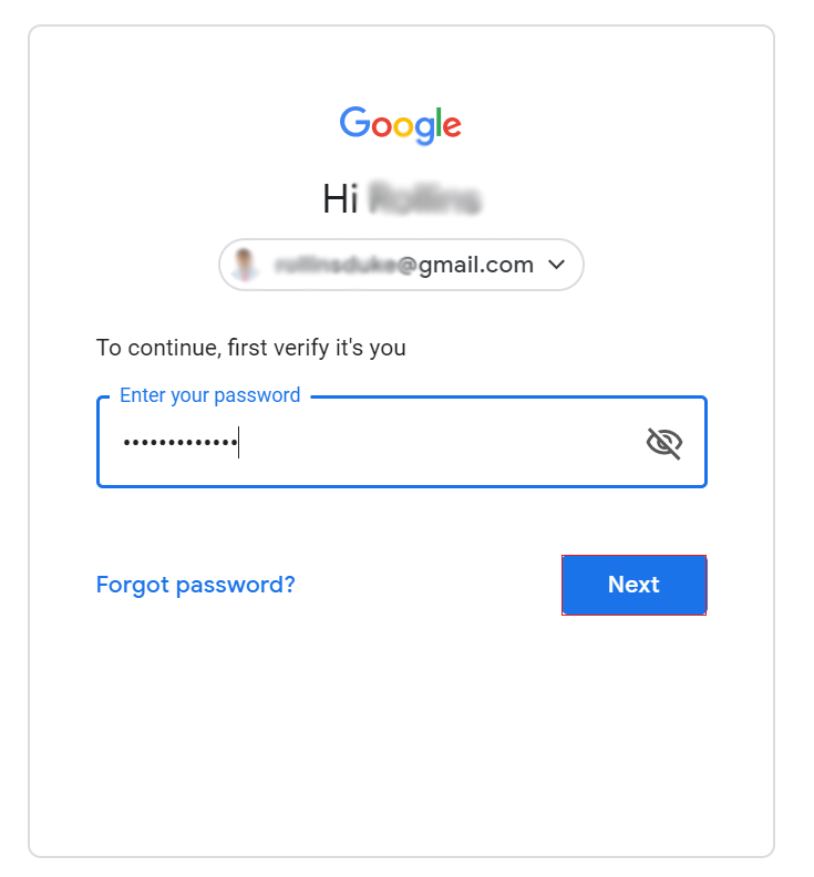 Google Mail email address