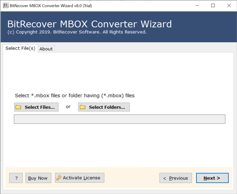 Launch MBOX to MSG converter