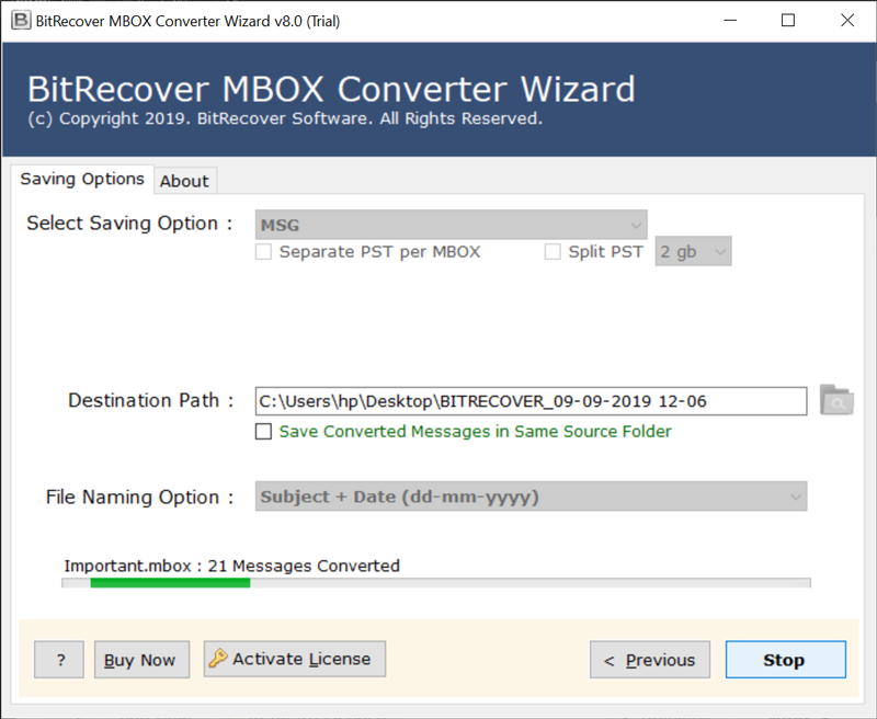 MBOX to MSG conversion
