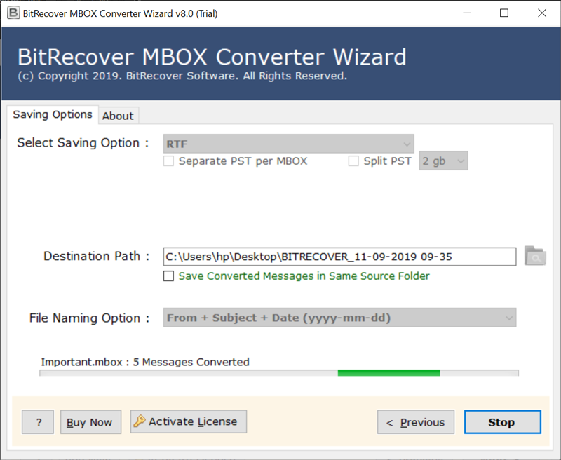 migrating from MBOX to RTF
