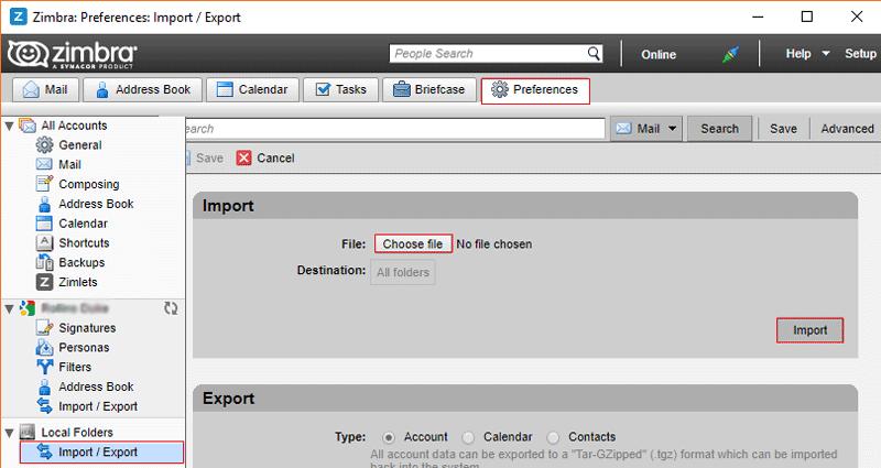 Run Zimbra email client