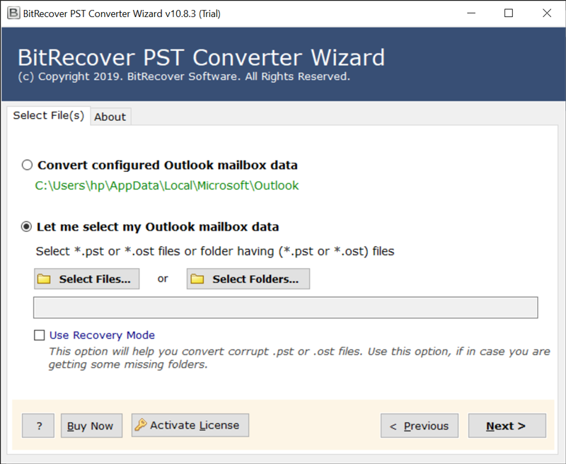 Select Files or Select Folders