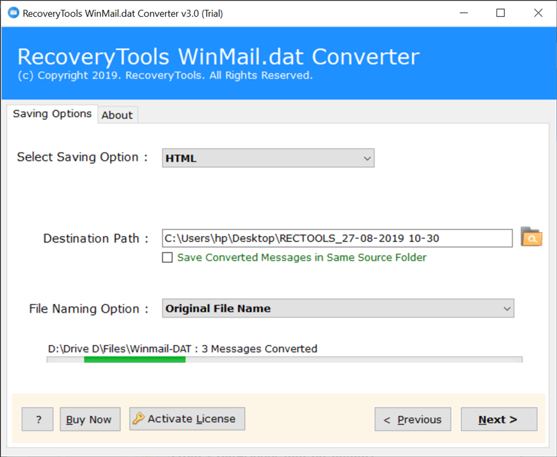 Winmail.dat to HTML conversion