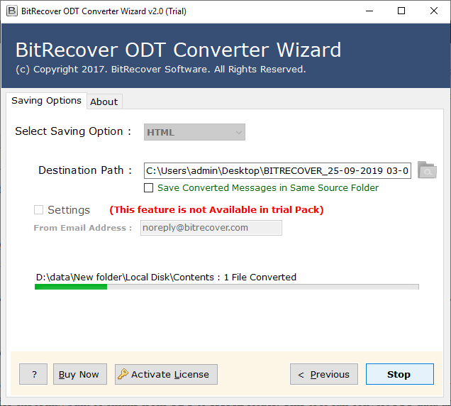 convert odt file to html