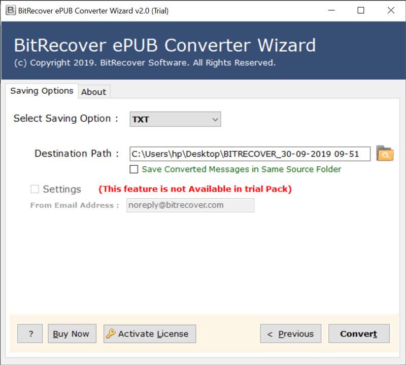 ePUB to Notepad Converter