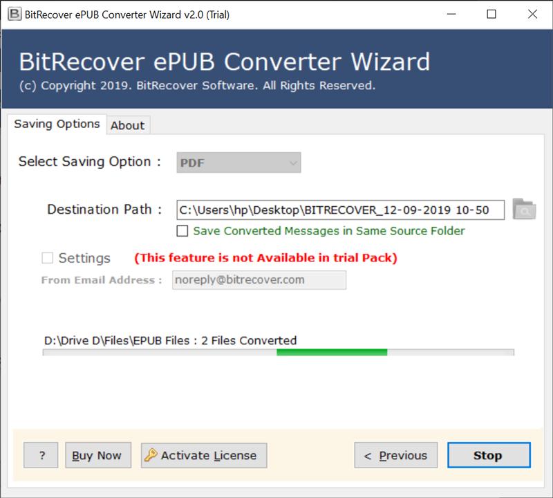 .epub to .pdf conversion